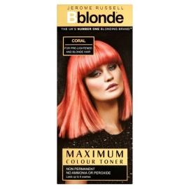 Plaukų tonavimo priemonė Jerome Russell Maximum Colour Toner Coral JR535011, plaukams suteikia atspalvį, 75 ml
