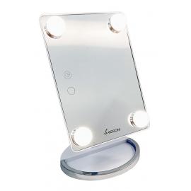 Pastatomas veidrodis su apšvietimu Be Osom BEOSOML207BMR, baltos spalvos, su baterijomis