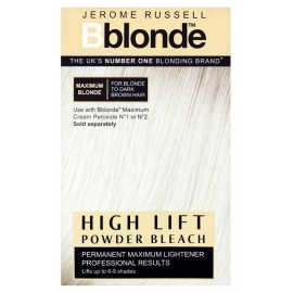 Šviesinimo milteliai plaukams Jerome Russell High Lift Powder Bleach JR534230, skirti plaukų šviesinimui, 4 x 25 g.