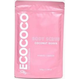 Kūno šveitiklis ECOCOCO Guava Body Scrub ECO00952, suteikia odai spindesio, drėkina, 220 g