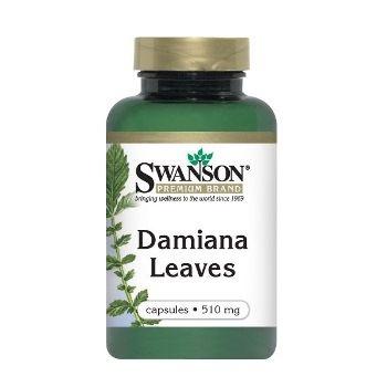 Swanson DAMIANA LAPAI N100 maisto papildas, tonizuojantis nervų sistemą, gerinantis nuotaiką didina seksualinį potraukį