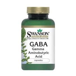 Swanson GABA-amino N100 maisto papildas, gerinantis miego ciklą, mažinantis dirglumą, nerimą, reguliuojantis kraujo spaudimą