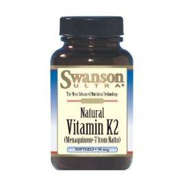 Swanson Naturalus Vitaminas K2 maisto papildas, reguliuojantis kraujo krešėjimą, greitesnį žaaizdų gijimą