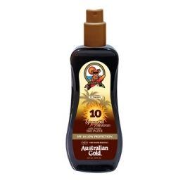 Australian Gold purškiamas kūno pienelis su natūraliais bronzantais ir apsauga nuo saulės SPF 10