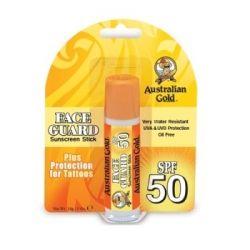 Australian Gold veido, lūpų, nosies pieštukas nuo saulės SPF 50 (saugo tatuiruotes nuo išblukimo)
