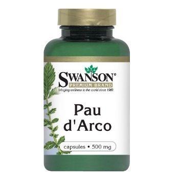 Swanson Premium Brand Pau d' Arco 500 mg N100 maisto papildas, padedantis įveikti virusus
