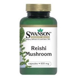 Swanson Premiuim Brand Reiši Grybas (Tikrinis Blizgutis (Reishi Mushroom)) 600 mg N60 maisto papildas gerinantis kraujotaką