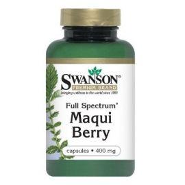 Swanson Premium Brand Makai uogos (Maqui Berry) N60 maisto papildas, padedantis sulieknėti
