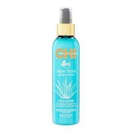 Nenuskalaujamas purškiamas kondicionierius garbanotiems plaukams CHI Aloe Vera Defined Curls Spray Conditioner 177ml