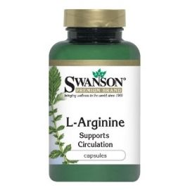 Swanson Premium Brand L-argininas 500MG N100, maisto papildas kraujagyslių sistemos būklei gerinti