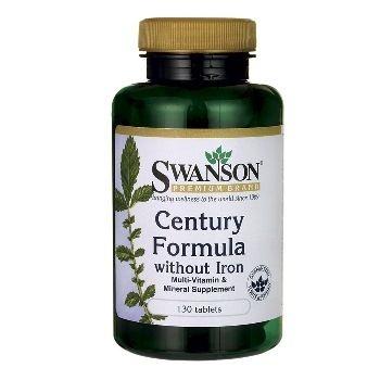 Swanson Premium Brand Amžiaus Formulė (multivitaminų ir mineralų kompleksas be geležies) N130 maisto papildas