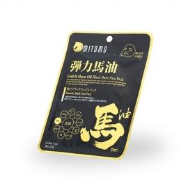 MITOMO Veido kaukė su auksu ir arklio taukais MITOMO Gold and Horse Oil Black Sheed Face Mask 25g