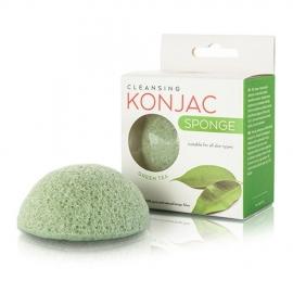 MITOMO Kempinėlė veidui valyti su žaliąja arbata Konjac Green Tea Sponge