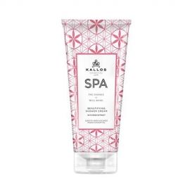 Kallos Professional Dušo kremas su rožių ekstraktu KALLOS Spa Beautifying shower cream with Rose Extract 200ml