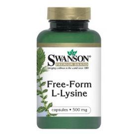 Swanson Premium Brand L-Lizinas (L-Lysine) N100 maisto papildas- pirmoji pagal svarbumą amino rūgštis baltymų sintezėje
