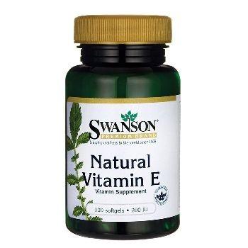 Swanson Premium Brand Natūralus Vitaminas E 200 IU N100, maisto papildas, skirtas organizmo imuninės sistemos stiprinimui
