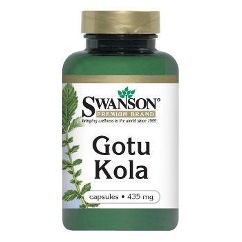 Swanson Premium Brand Gotu Kola N60, maisto papildas, skirtas smegenų veiklai gerinti