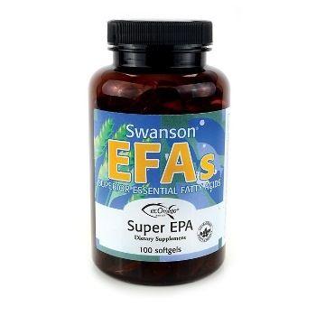 Swanson EFAs Linų sėmenų aliejus (Flaxseed Oil) 1000 mg N100 maisto papildas Omega-3 šaltinis