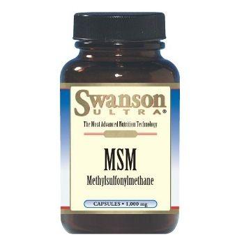 Swanson Ultra MSM (Metilsulfonilmetanas) 1000 mg N120 maisto papildas, palaikantis kremzlinio audinio elastingumą, stangrumą