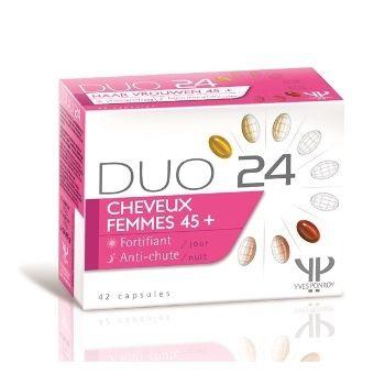 Yves Ponroy DUO 24 Moterims 45+ maisto papildas plaukams sustiprinti