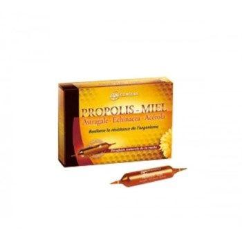 Yves Ponroy Propolio ampulės su plėvėtosios kulkšnės, ežiuolės ir vyšnių ekstraktais, maisto papildas, organizmo apsaugai