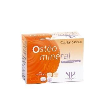 Yves Ponroy Osteo Mineral Ca + Mg maisto papildas padeda atkurti kaulų audinio mineralus